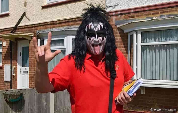 Isle of Sheppey postman dresses as KISS' Gene Simmons to lift lockdown spirits