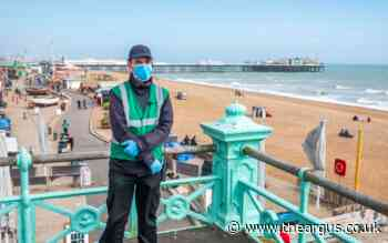 Brighton beach and seafront access restricted by wardens