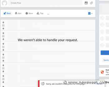 Is Reddit Down? Users Report Errors With Social Media Site - Newsweek