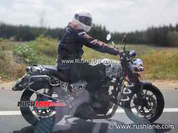 Royal Enfield Hunter spied again - Side view reveals new details - RushLane