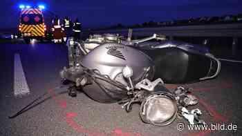 Unfall bei Dresden: Mottorad-Fahrer fällt Abhang herunter – tot - BILD