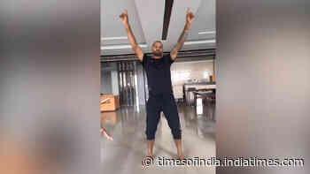 Like father, like son: Shikhar Dhawan dances with his son Zoravar