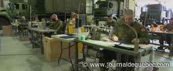 Fabrication de masques: la nouvelle mission des militaires de Valcartier