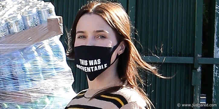 Sophia Bush Makes Bold Statement With Her Mask After Picking Up Essential Items