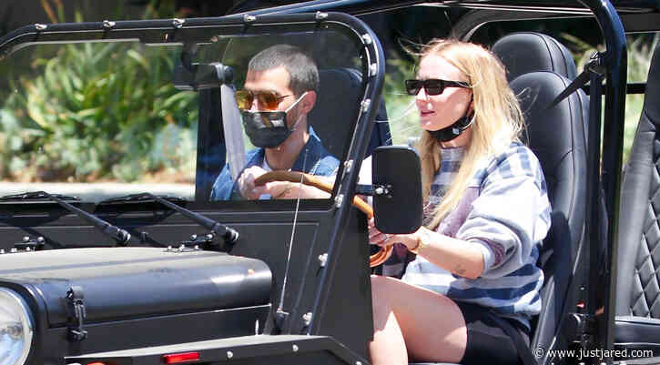 Joe Jonas & Sophie Turner Go For a Friday Morning Drive in Their Moke