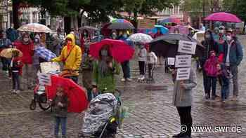Demonstration in Heidelberg für mehr Präsenzunterricht an den Schulen - SWR