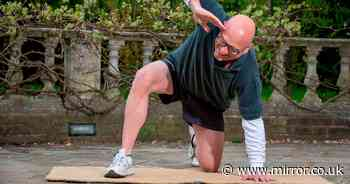 Gregg Wallace's home workout using household items during lockdown - week 6