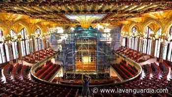 El Palau de la Música Catalana restaura las esculturas de la boca de su escenario - La Vanguardia