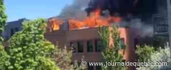 Incendie dans un immeuble à logements de Saint-Hyacinthe