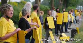 Menschenkette und Hausbesetzung: Der Wind am Tagebau Garzweiler wird rauer - Aachener Zeitung