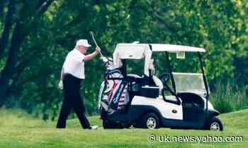 Trump tees up controversy as he plays golf in a pandemic