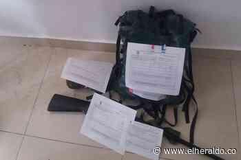 Hallan elementos de guerra con insignias de la FARC en Morroa, Sucre - El Heraldo (Colombia)