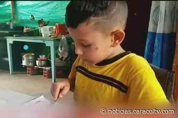 Niño, sin celular ni computador, le envía conmovedora carta a Duque - Noticias Caracol