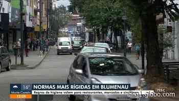 Blumenau amplia regras de higiene para restaurantes e mercados em meio à pandemia - G1