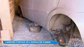 Ladrões furtam rodas e pneus de carro em Vespasiano (MG) - R7