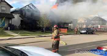 Fire destroys three Saskatoon homes, damages others.