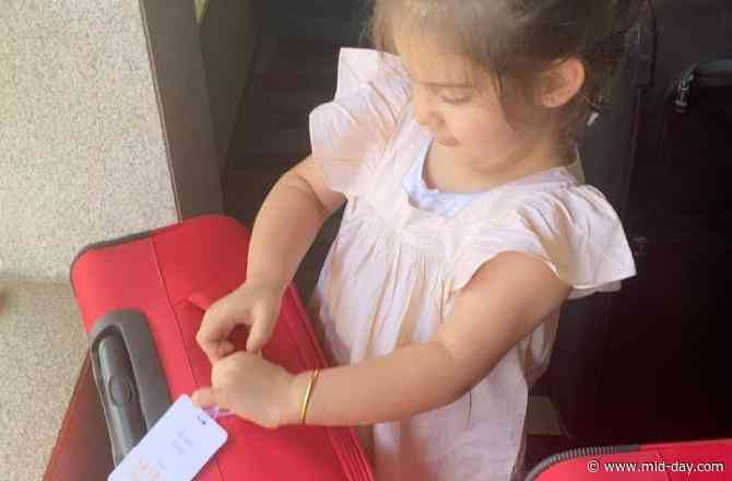 Karan Johar's kids Yash and Roohi all set to leave for the 'airport' inside the luggage bag