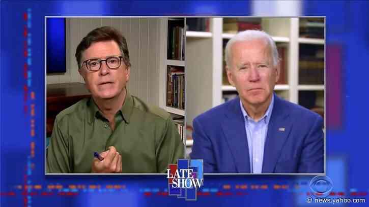 Joe Biden Shows Trump How to Grieve in Emotional 'Colbert' Interview