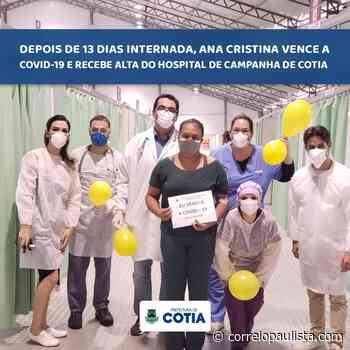 Após 13 dias de internação, moradora de Cotia está curada da Covid-19 - Correio Paulista