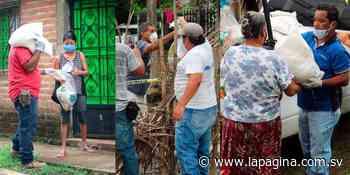 (VIDEO) Alcaldía de Sonzacate entrega paquetes alimentarios a sus habitantes - Diario La Página