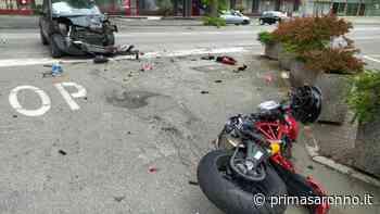 Violento incidente fra auto e moto a Castellanza, due feriti gravi FOTO - Varese Settegiorni