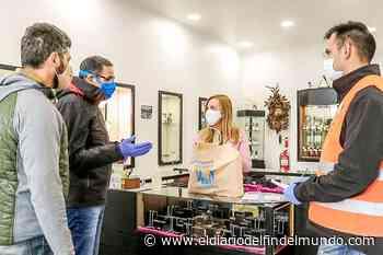 El Municipio de Ushuaia realizó una nueva entrega de elementos de desinfección a comercios - El Diario del Fin del Mundo