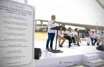 Duque inaugura el nuevo puente Pumarejo sobre el río De la Magdalena - El Quindiano S.A.S.