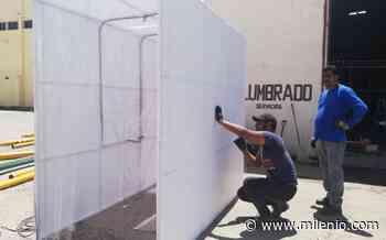 Coronavirus Coahuila. Elaboran cabinas sanitizantes en Matamoros - Milenio