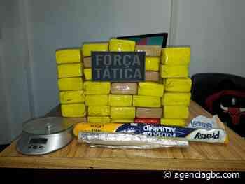Traficante é preso com 35kg de maconha na Pedreira em Esteio - Agência GBC