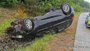 Unfall auf A4 in Nordhessen: Auto überschlägt sich | Bad Hersfeld - hna.de
