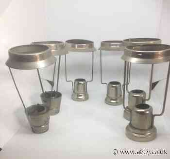 Three Pairs Of Antique Candle Lampshade Holders