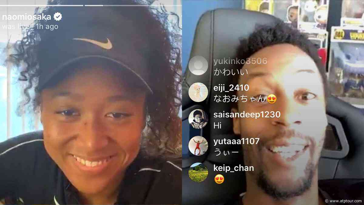 Naomi Osaka Discovers That Gael Monfils Is A Massive Comic Book Fan! - ATP Tour