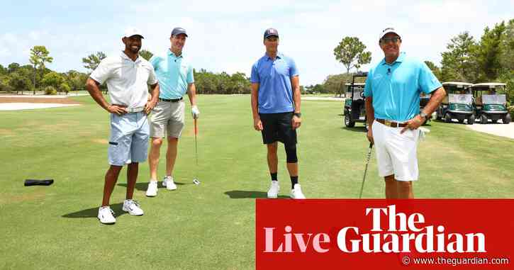 The Match: Tiger Woods & Peyton Manning v Phil Mickelson & Tom Brady – live!