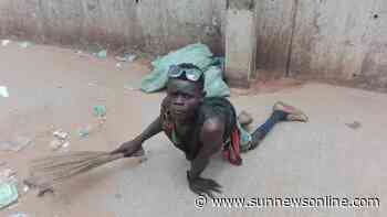 I do it for humanity, says paralytic who sweeps Awka foot bridge - Daily Sun