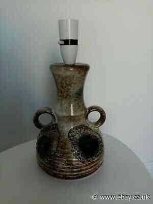 Vintage Retro 1960s 1970s Ceramic Table Lamp. PAT TESTED