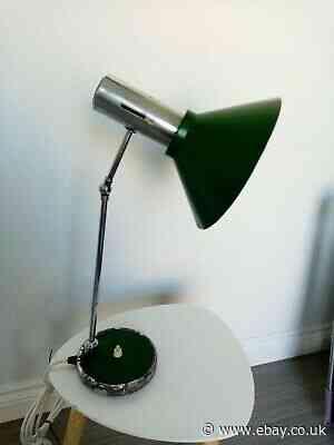 Vintage Retro Green Italian Desk Lamp 1960s 1970s PAT TESTED