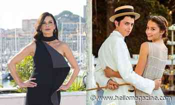 Catherine Zeta-Jones travels to Italy with children Dylan and Carys in incredible throwback photo - HELLO!