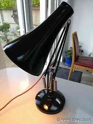 Vintage Black Anglepoise Lamp Type 75  1968-1973 model in good used condition