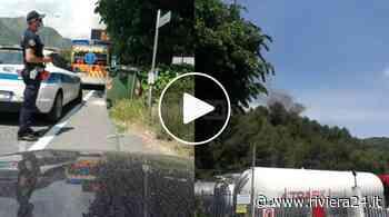 Ventimiglia, incendio a Bevera: fuoco lambisce abitazione - Riviera24
