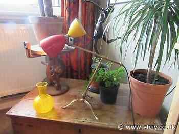MID-CENTURY BRASS ITALIAN DESK LAMP