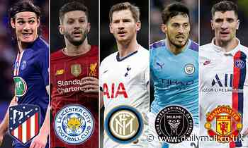 10 players who could leave for free this summer and where they could end up