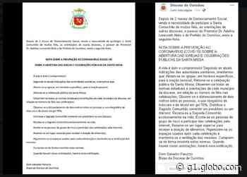Diocese de Ourinhos autoriza retomada de missas e celebrações públicas - G1