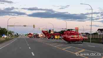 One airlifted to hospital after Leduc crash