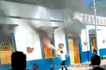 Tragedia en Zapatoca, Santander, incendio destruyó emblemático restaurante [VIDEO] - Extra Bucaramanga