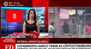 Congresista Marco Verde es captado en reunión bebiendo licor en Oxapampa - El Comercio Perú