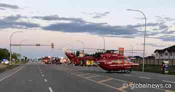 STARS airlifts 1 to hospital after early-morning crash in Leduc