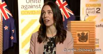 New Zealand's Jacinda Ardern reacts to quake during live TV interview