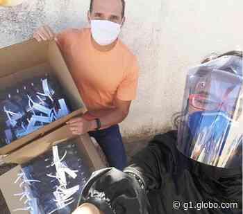 Designer fabrica e entrega 100 máscaras a entidades de Brotas - G1