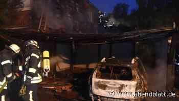 Landkreis Stade: Carport-Brand in Buxtehude greift auf Reihenhaus über