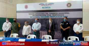 Instalan en Reynosa el Comité de PC por temporada de huracanes - Hoy Tamaulipas